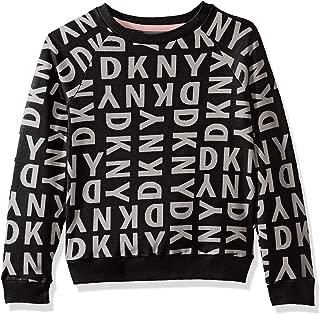 DKNY Girls' Long Sleeve Pullover Sweatshirt