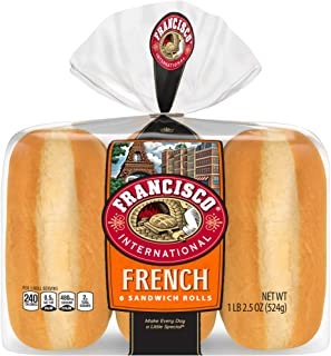 Francisco, 6 Inch French Sandwich Rolls, 6 Count, 18.5 Ounce