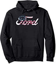 Ford Script American Flag Logo Pullover Hoodie
