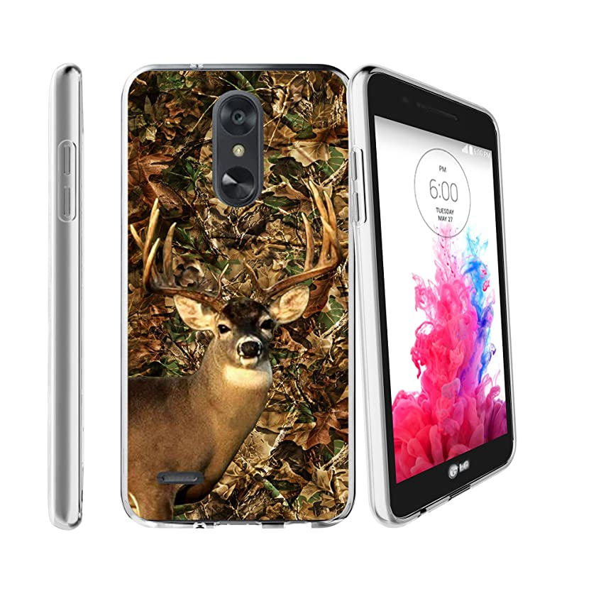 Flex Force by MINITURTLE Compatible with LG Aristo 2 / LG Rebel 3 / LG Tribute Dynasty/LG K8 Plus/LG Zone 4 (2018) Ultra-Clear Transparent Silicone Case - Deer Hunting Camo