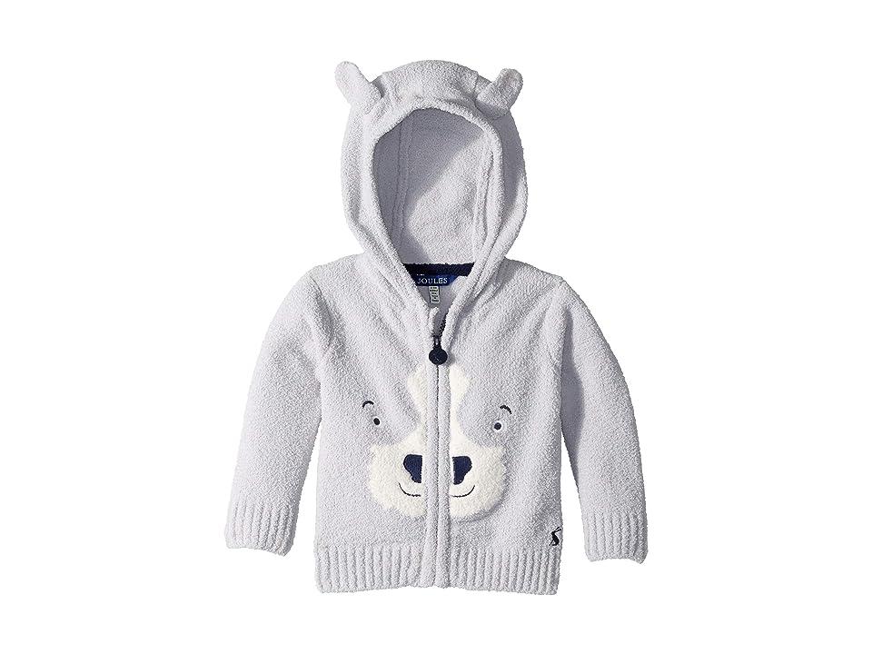 Joules Kids Chenille Zip Through Sweater (Infant) (Grey Dog) Boy