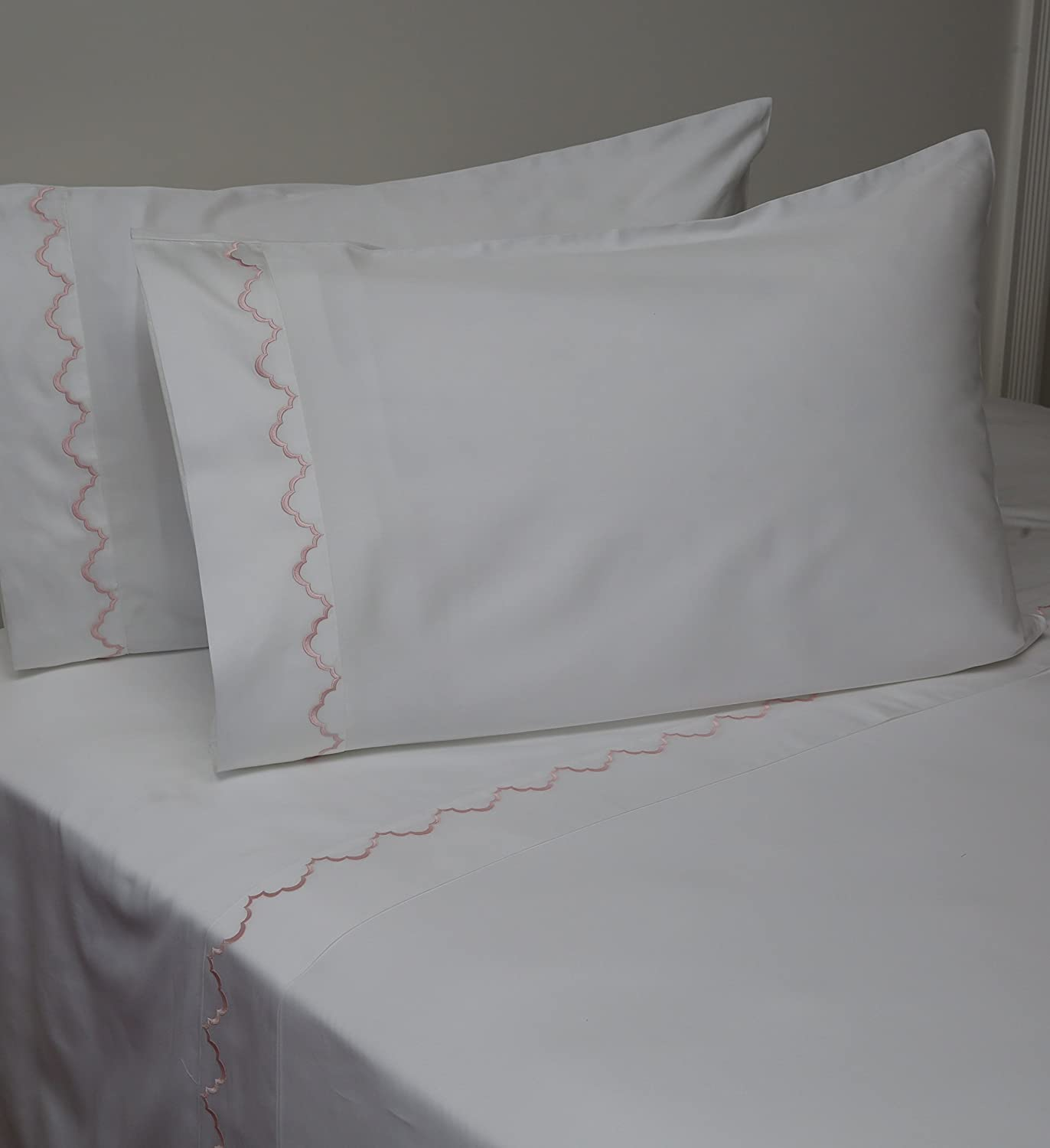 Belle Epoque 59894 Traditional Idarlenis Embroidered Sheet Set Pink, King