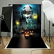 YISITONG Photography Background 5x7FT Halloween Backdrop Photo Cloth Background for Halloween Party Decorations Studio Photo Props