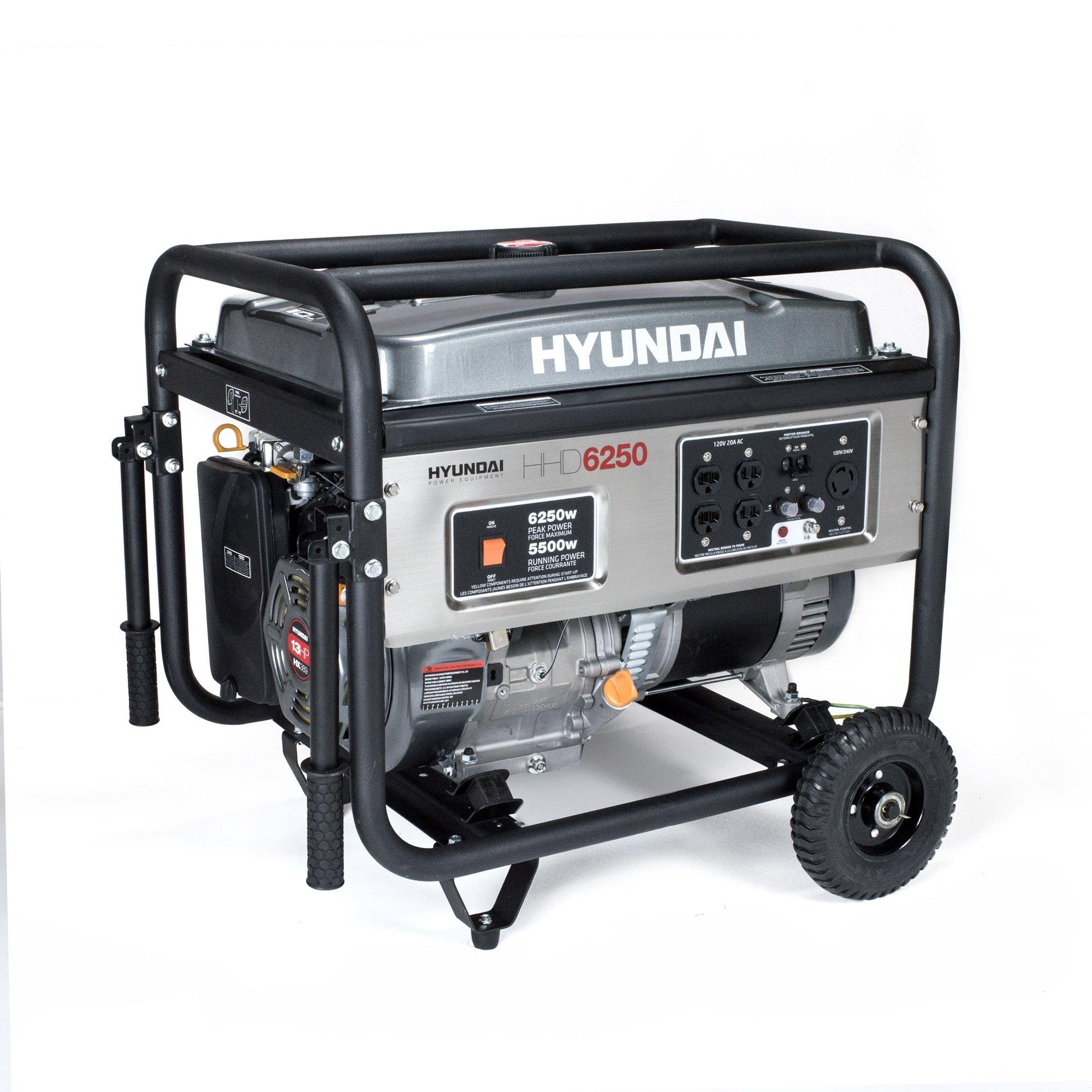 HHD6250 6250 Watt 4 Stroke Portable Generator