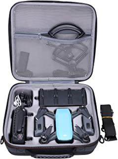 Case for DJI Spark Drone fit for 4 Drone Batteries and Propeller Guard and Battery Charger and Remote Controller by XANAD