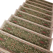 JIAJUAN Stair Carpet Treads Anti Slip Staircase Rugs Self-Sticking Mute Protection Mats, 5 Styles, 5 Sizes,Customize (Colo...
