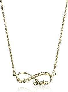 Amazon CollectionPlata de ley circonitas cúbicas collar con colgante infinity Sisters, 45,7Ã'cm