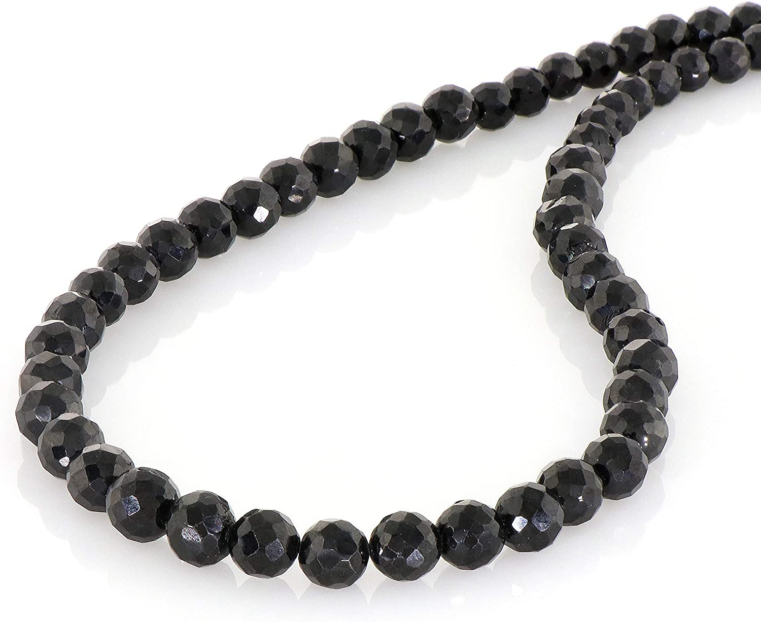NirvanaIN Columbus Mall Natural Black Spinel Necklace Stone Spin Jewelry Limited time cheap sale