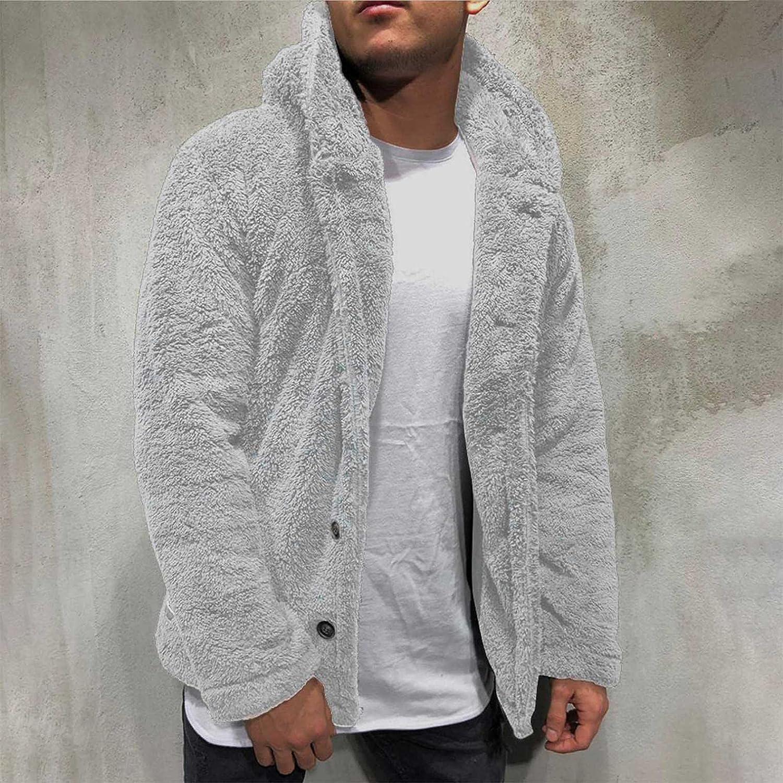 Mens Zip Up HoodiesHoodies for Men Men's Autumn Winter Solid Color Long Sleeve Hooded Double-faced Fleece Warm Jackets