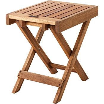 AZUMAYA フォールディングサイドテーブル 折りたたみ可能 40cm幅 NX-513