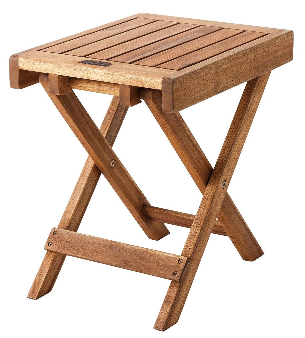 窒息させる磁気ソーシャルAZUMAYA フォールディングサイドテーブル 折りたたみ可能 40cm幅 NX-513