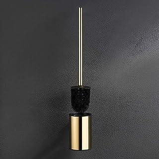 bgl Brosse WC murale dorée en acier inoxydable 304 rond pour salle de bain (doré)