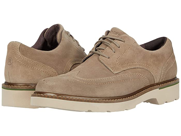 Rockport  Charlee Wing Tip (Sand Suede) Mens Shoes