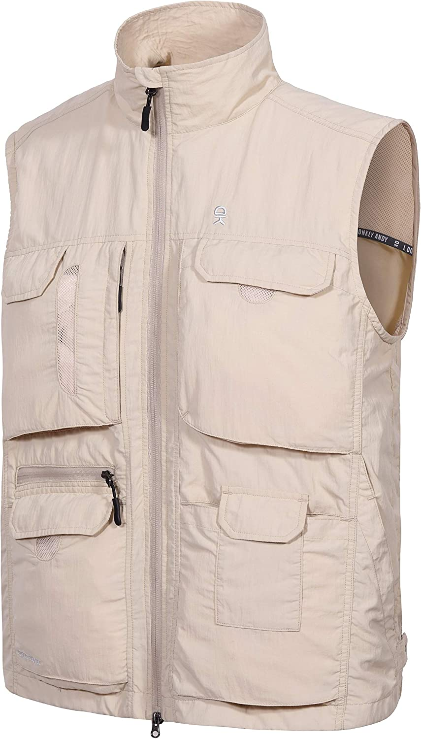 Little Donkey Andy Menss Lightweight Quick Dry Fishing Safari Vest for Outdoor Sports with Multi-Pockets