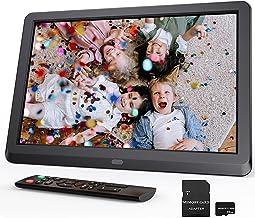 Digitaler Bilderrahmen 10 Zoll mit 32GB SD, Neues UI Design — Bilderrahmen Elektronisch mit Fernbedienung, Videos/Musik/Bi...