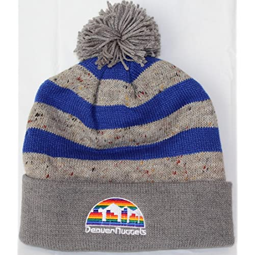 1a183b2949368 Mitchell   Ness NBA Vintage Speckled Oatmeal Knit Hat with Pom Pom