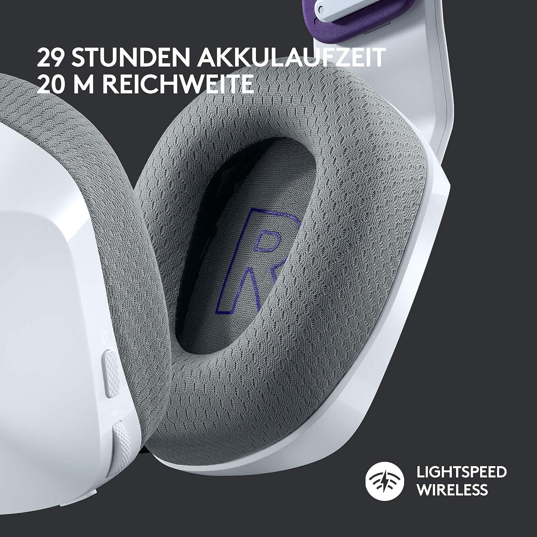 PRO G Lautsprechern LIGHTSYNC RGB Lila Blue VO!CE Mikrofontechnologie Ultraleicht Logitech G733 LIGHTSPEED kabelloses Gaming-Headset mit Kopfb/ügel 20m Reichweite 15-Stunden Akkulaufzeit