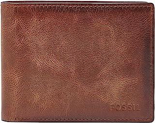Fossil Men's RFID Blocking Derrick Leather Bifold Wallet with Flip ID