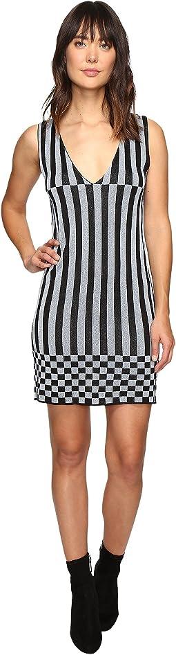 Knitted Lurex Stripe Dress