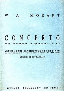 MOZART - Concierto para Clarinete (K.622) para Clarinete en La y Piano (Dangain)