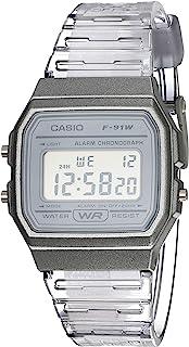 ساعة من كاسيو بسوار من البلاستيك المطاطي (20) - F-91WS-8CF)