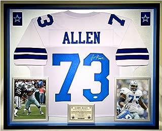 Premium Framed Larry Allen Autographed/Signed Dallas Cowboys Jersey - JSA COA