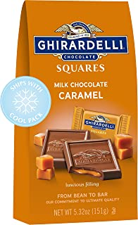Ghirardelli Perfect for S'mores Milk Chocolate Squares with Caramel Filling, 5.32 Oz Bag (Pack of 6)