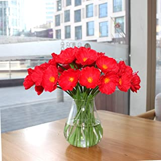 Mandy's Artificial Poppy Flower for Wedding Home & Kitchen PU 12.5