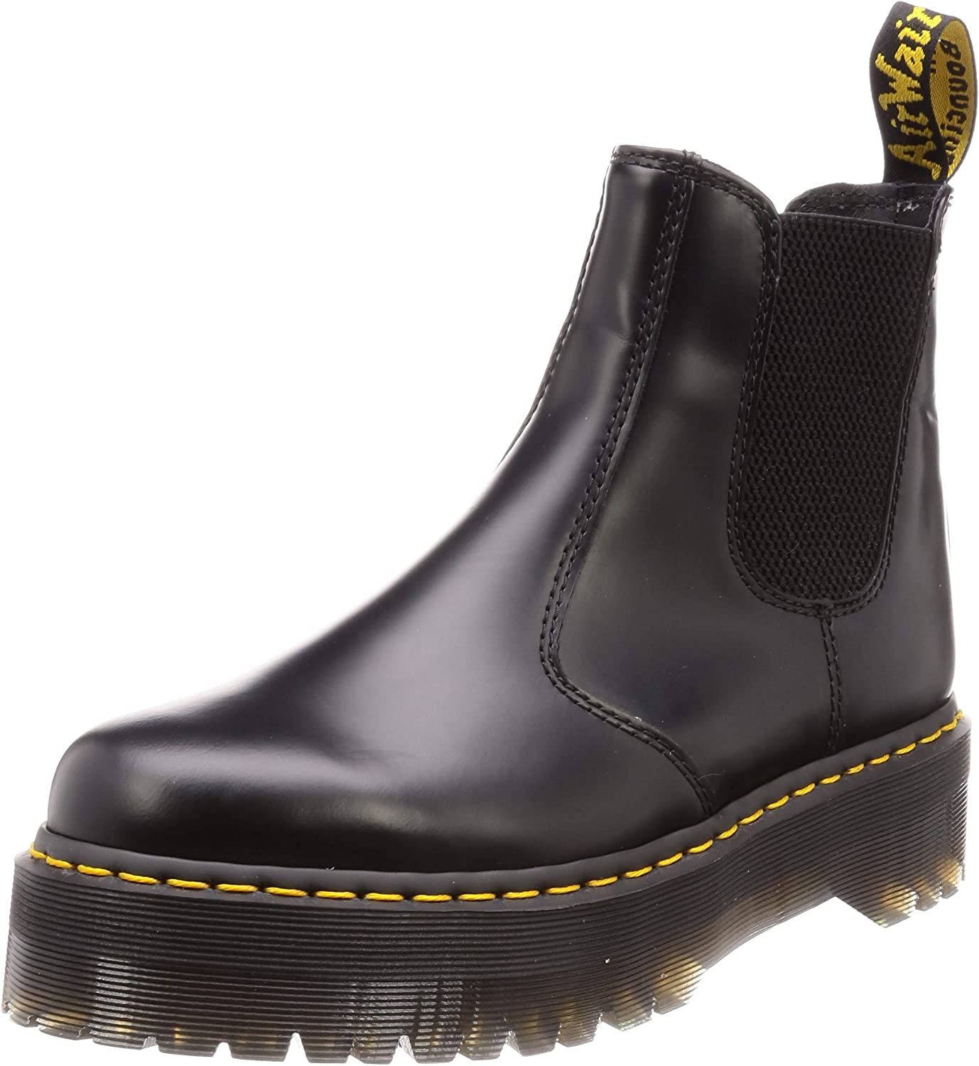 Unisex Unisex Unisex Vuxna Dr Martens 2976 Quad Polerad Smooth Leather Platform Boot  den klassiska stilen