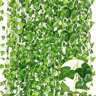 Plantas Artificiales,Hiedra Vides Artificiales,Falso lvy Hiedra Falsa Hojas Colgando Vegetación Guirnalda Planta de Vid,pa...