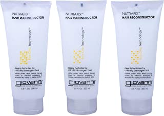 GIOVANNI Nutrafix Hair Reconstructor , 6.8 oz. for Critically Damaged Hair, Adds Softness, Body & Shine. Rich Proteins Enc...