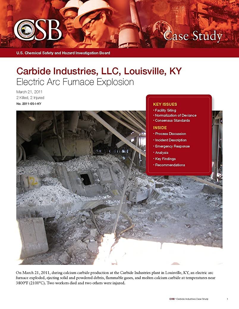 に対応安らぎマットレスChemical Safety Investigation - Electrical Arc Furnace Explosion (English Edition)