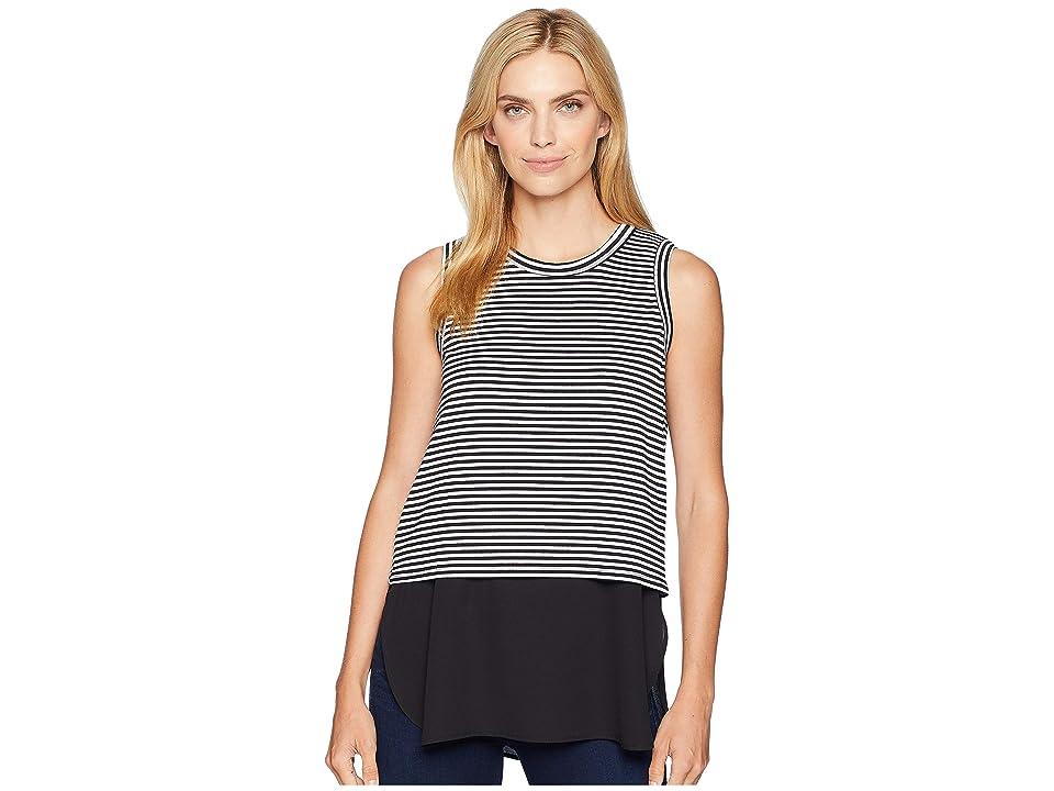 Karen Kane Contrast Tank Top (Stripe) Women