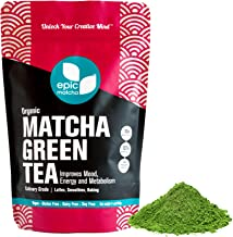Epic Matcha Organic Matcha Green Tea Powder - 4oz/113g (48 servings) - Culinary Grade, Non-GMO, Vegan, Unsweetened