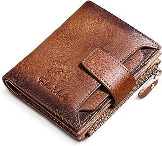 BAIGIO Billetera Bifold Hombres Cartera Cuero Hombre RFID Bloqueo Billetera Tarjetas de Crédito Carteras Piel Moneder (Mar...