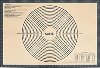 Sapid Extra Thick Silicone Pastry Mat Non-slip with Measurements for Non-stick Silicone Baking Mat Extra Large, Dough Roll...
