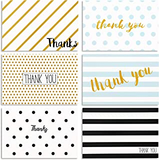Thank You Cards with Envelopes for Birthdays, Graduation, Wedding (48-Pack)