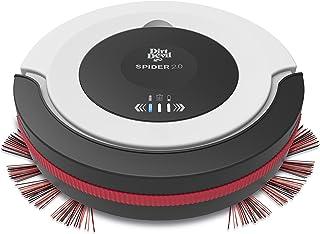 Dirt Devil M612 2.0 Robot aspirador Spider, dise?o compacto 7 cm, 3 modos de limpieza, 90 min de autonom?a, blanco, negro, rojo