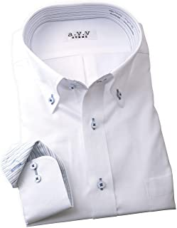 ワイシャツ 長袖 a.v.v HOMME 形態安定?長袖ドレスシャツ メンズ