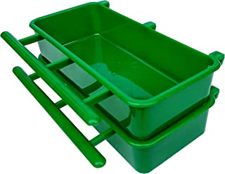 PetNest Jumbo Plastic Bird Cage Water Bowl and Food Feeder - Pack of 2