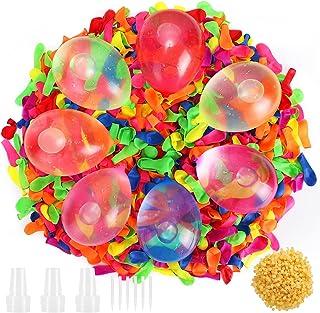 Gafild 1000 Pièces Ballons d'eau Kits,Ballon d'eau Bombes à Eau Ballon multicolore Jouets du Jardin et de la Plage Idéal p...