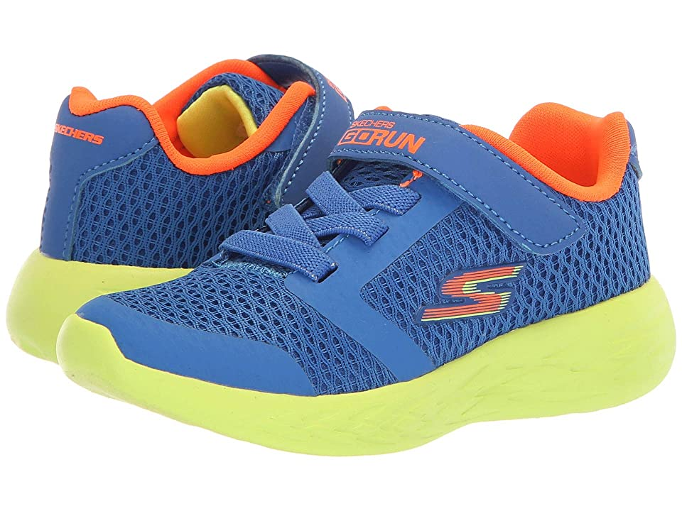 SKECHERS KIDS Go Run 600 (Toddler) (Blue/Lime) Boy