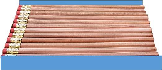 12 Pack Wood-Cased #2 HB Soft Natural Wood Pencils Woodgrain