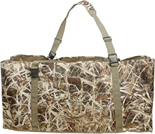 Auscamotek 12 Slot Duck Decoys Bag with Waterfowl Hunting Blind Camouflage Printing