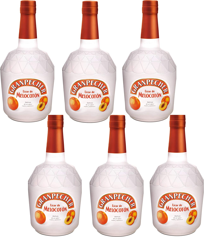 Granpecher - Licor de Melocotón - 6 botellas x 700 ml - Total ...
