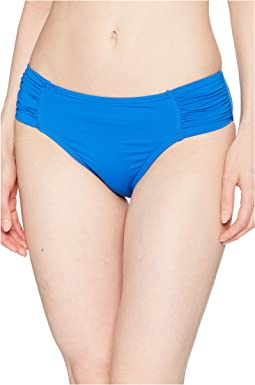 Pearl High-Waist Side-Shirred Bikini Bottom