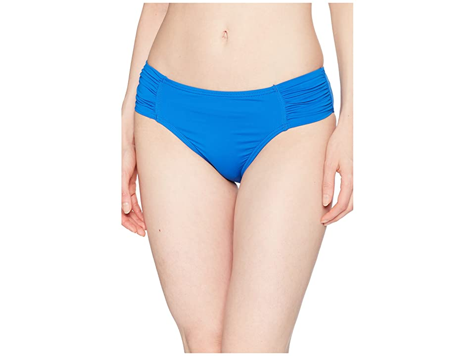 Tommy Bahama Pearl High-Waist Side-Shirred Bikini Bottom (Cobalt Sea) Women