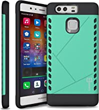 Huawei P9 Case, CoverON [Paladin Series] Slim Fit Hard Protective Modern Style Phone Case for Huawei P9 - Teal Mint