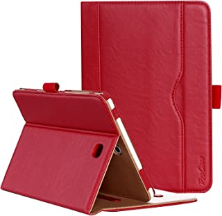 ProCase Funda Samsung Galaxy Tab S2 8.0 - Clásico Folio de Soporte Cubierta Inteligente Plegable para 2015 Galaxy Tab S2 Tablet (8.0 Pulgada, SM-T710 T715 T713) -Rojo