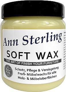 Ann SterlingSoft Wax Wachs Möbelwachs Shabby Chic Holzwachs Versiegelung Finish Wachs Kalkwachs 500ml, Farblos